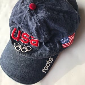 Vintage USA 2002 Winter Olympic Roots Ball cap hat
